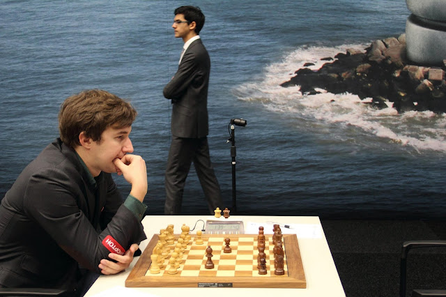 Sergey Karjakin y Anish Giri en el Tata Steel Chess 2016
