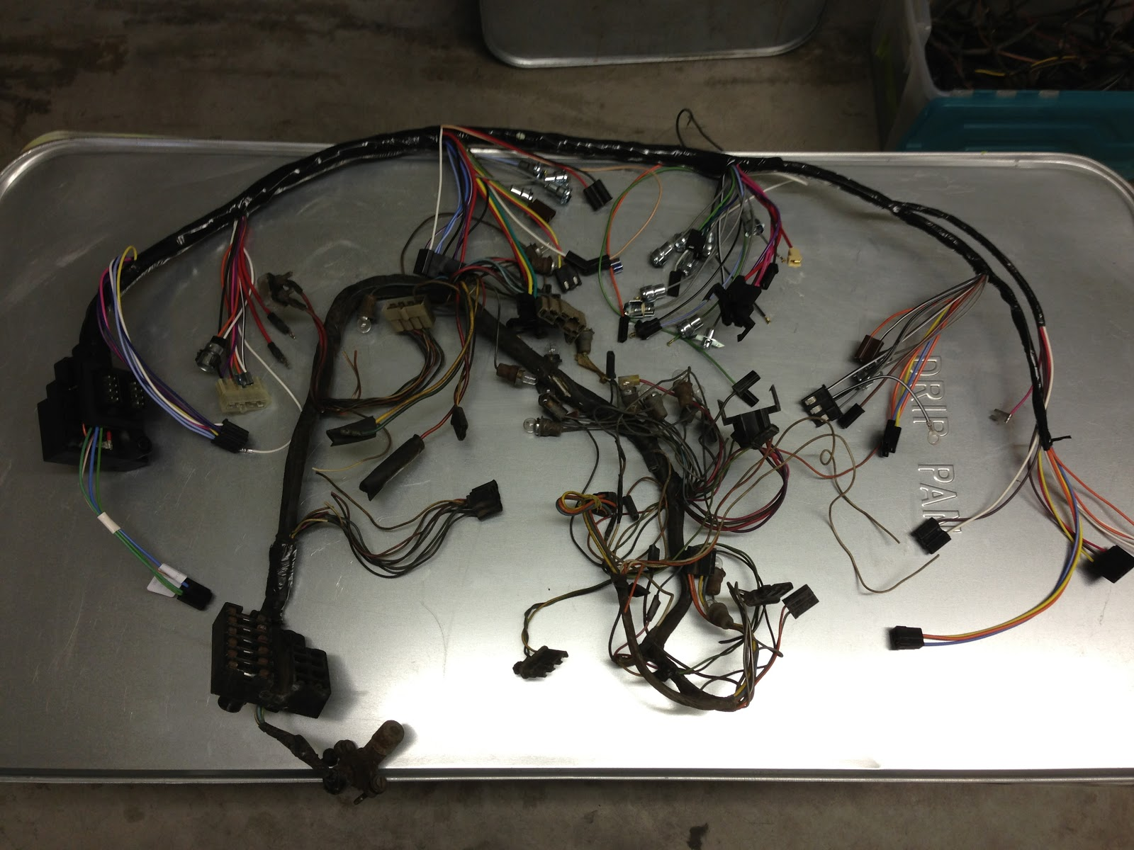 1963 Corvette Sting Ray Split Window Coupe Restoration Wiring Main Harness After I Had The Dash In Position It Was Time To Identify Each Of Wires This Is A Tedious Exercise That Still Isnt Complete