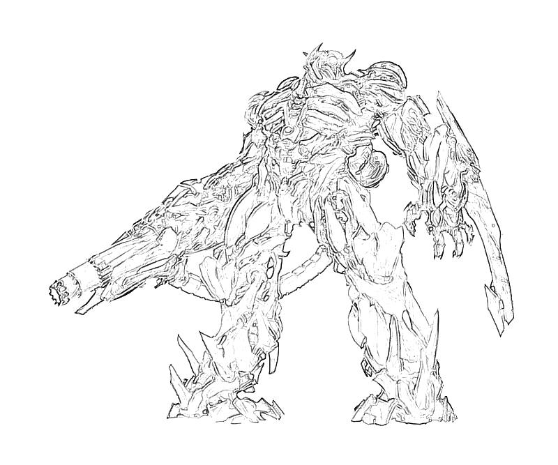 Printable Transformers Fall of Cybertron Shockwave Character Coloring  title=