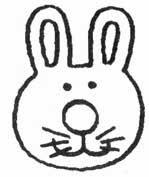 animais para pintar, animais para imprimir, animais,desenhos para imprimir, desenhos para pintar, cabeça de coelho