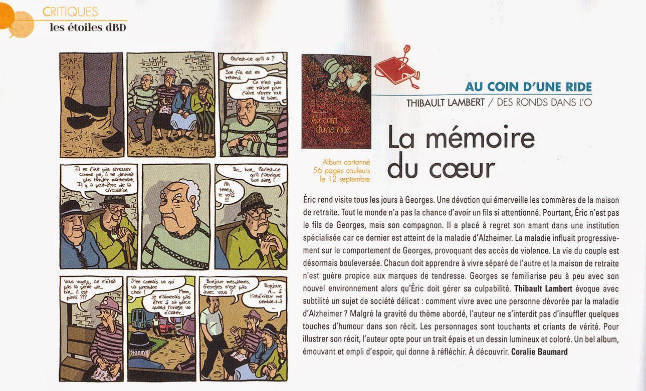 Lire l'article : La mémoire du coeur - dBD n°86 septembre 2014
