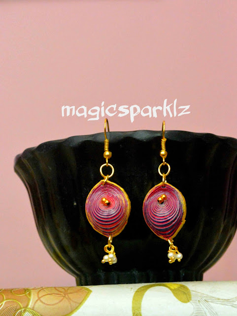 quilled 3d earrings