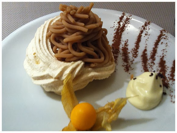 Meringue topped with sweetened chestnut cream - Mont-Salève, Geneva