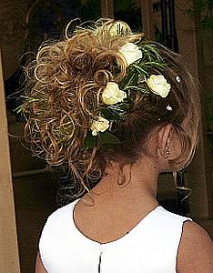 Peinado Niña de las Flores, Cabello Recogido, parte 2