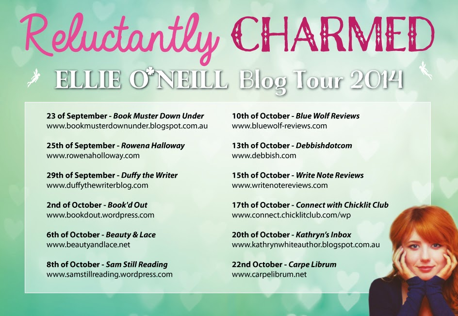 I'm Part of the Reluctantly Charmed Blog Tour