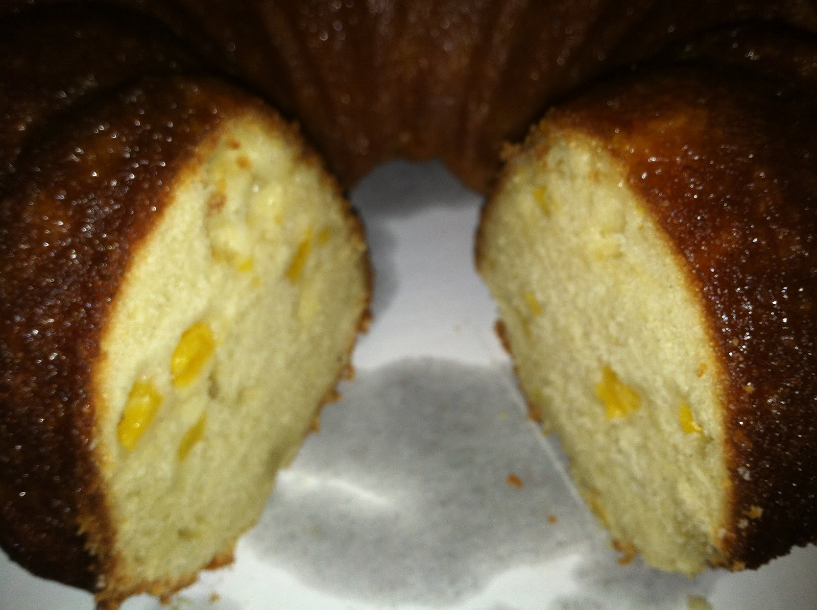 bundt cake with peach soaking syrup or peaches and cream bundt cake ...