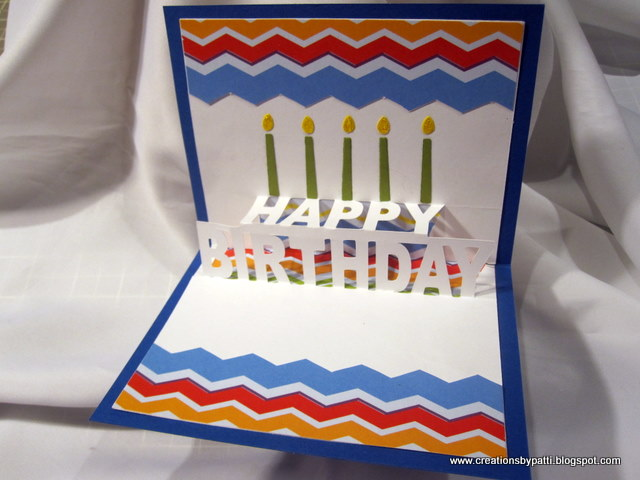 Creations by Patti Happy Birthday PopUp Card – Happy Birthday Pop Up Cards