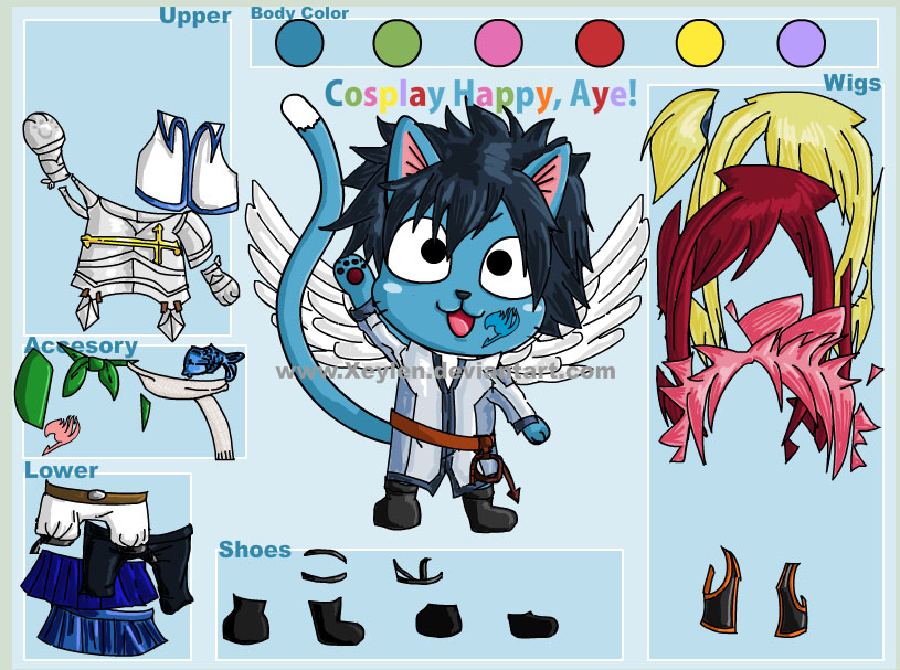 Anime Fairy Tail Dress Up Games