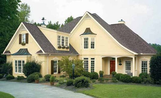 Yellow House Exterior http://homeexteriorcolor.blogspot.com/2011/07/popular-exterior-paint-colors-2011.html