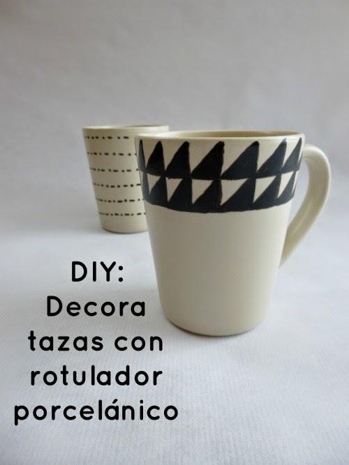 Diy decora tazas con rotulador para porcelana