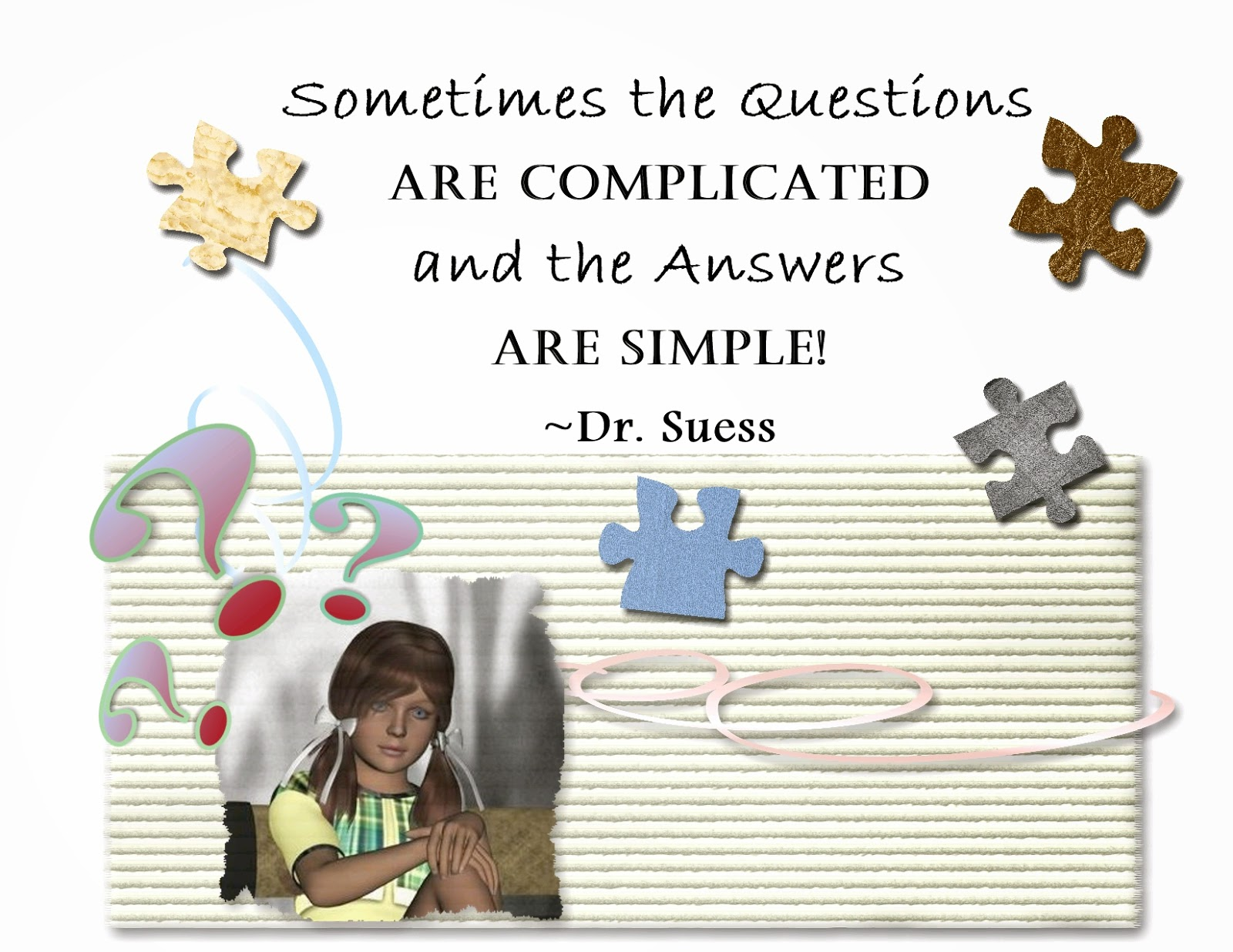 Questions are Complicated & Answers are Simple Image