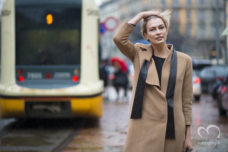 Editor in Chief of Vogue Ukraine Masha Tsukanova attends Gucci 2014 Fall Winter Show during Milan Fashion Week MFW