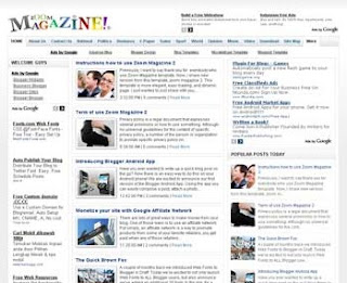 Zoom Magazine 2 Blogger Template