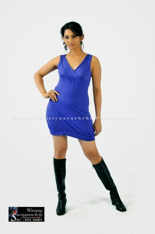 sri lankan model blue tight dress