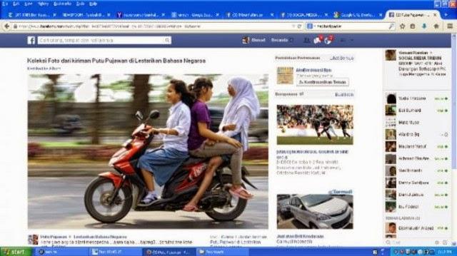 Foto 3 Cewek Bonceng Motor Gaya Seks Heboh di FB