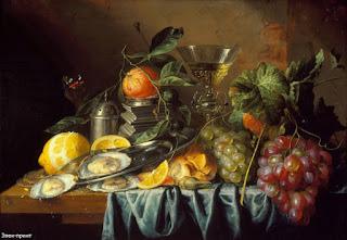 Bodegones con Copas Vino Frutas
