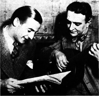 Carlos Dante con Pedro Noda en 1936