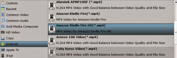 dvd iso ifo to kindle fire hdx