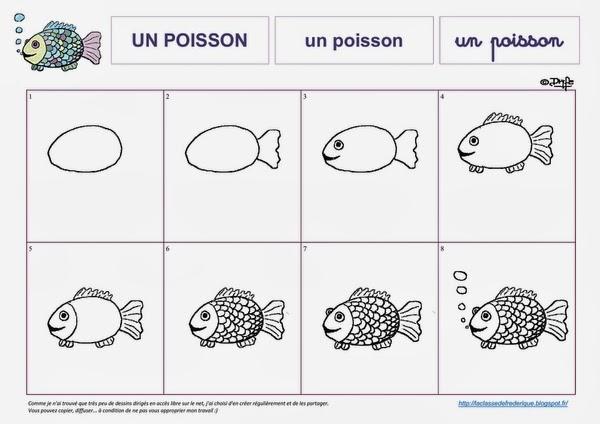 Laclassedefrederique janvier 2014 - Dessiner un poisson facilement ...