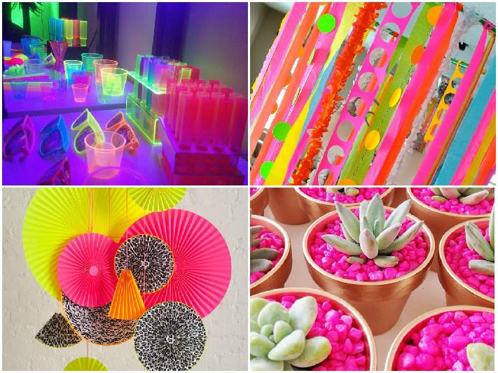 decoracao festa neon: decoração de festas para festas tutoriais dicas moda inspirações