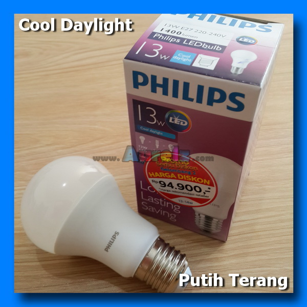 lampu led philips 13 watt cool daylight