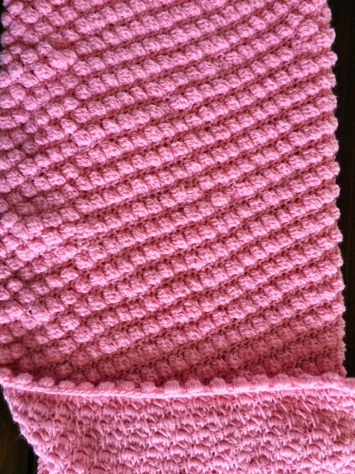 Tunisian Crochet Puff Stitch Baby Blanket - Free Pattern ...