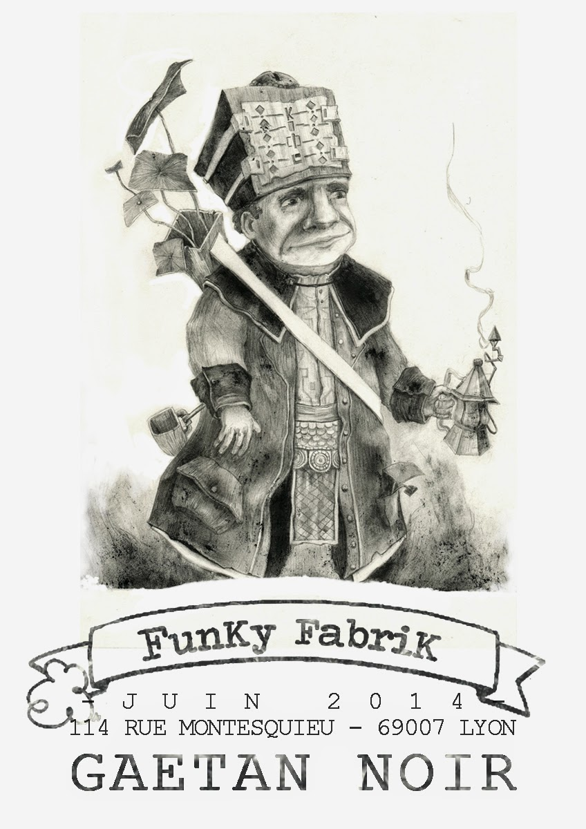 Affiche illustration exposition Funky Fabrik