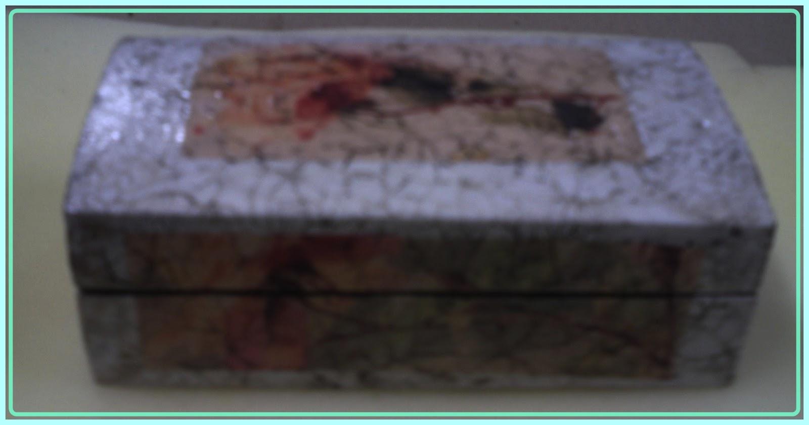 Simplemente manualidades caja de madera craquelada - Manualidades cajas de madera ...