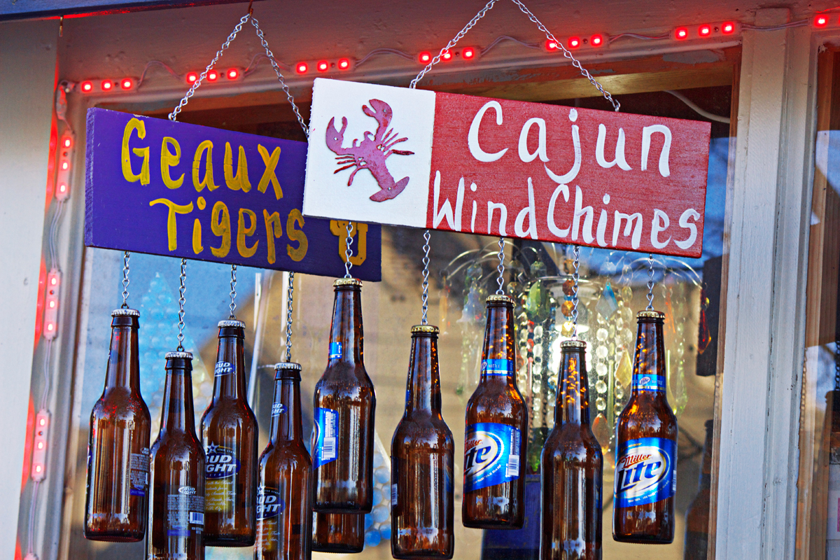 cajun wind chimes with miller lite