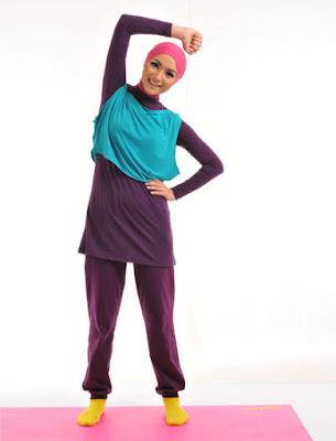 Model Baju Senam Olahraga Muslimah Elzatta