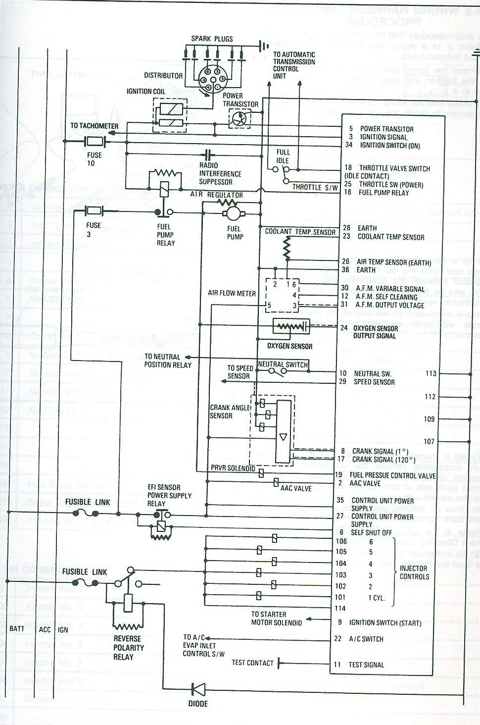 Vl Starter Motor Wiring Diagram : Vl harness into gq rb efi patrol nissan forum