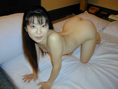 Fair Asian Woman Spreading It Wide