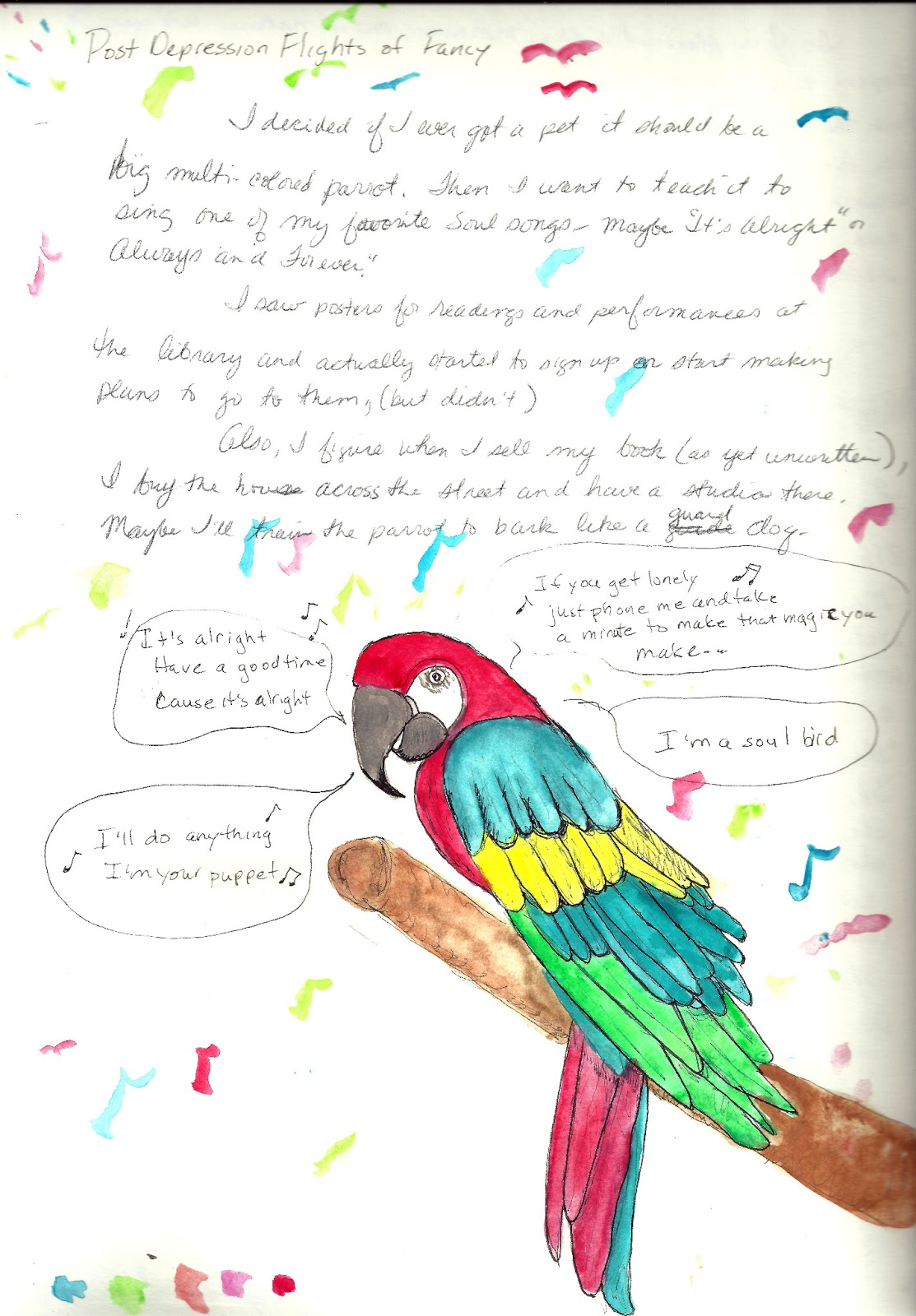 essay on my favourite bird parrot in english