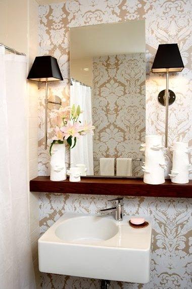 blog de decoração  Arquitrecos Inspirações para banheiros charmosos gastand -> Decoracao De Banheiro Pequeno Gastando Pouco