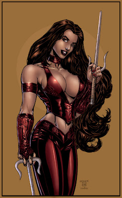 marvel comics - frank miller -  female ninja assassin