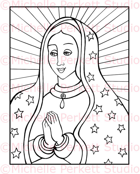 de guadalupe Colouring Pages
