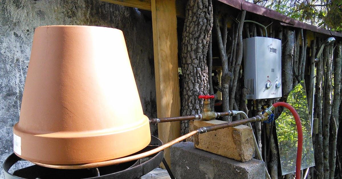 Minimal Intentions Homemade Inline Propane Hot Water Heater