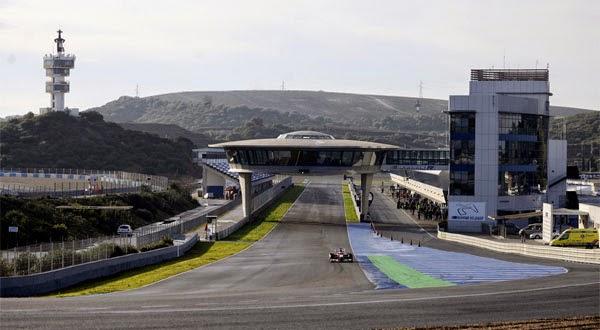 Entrenamientos de Formula 1 en el Circuito de Jerez