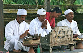 Priests at temple: Bali