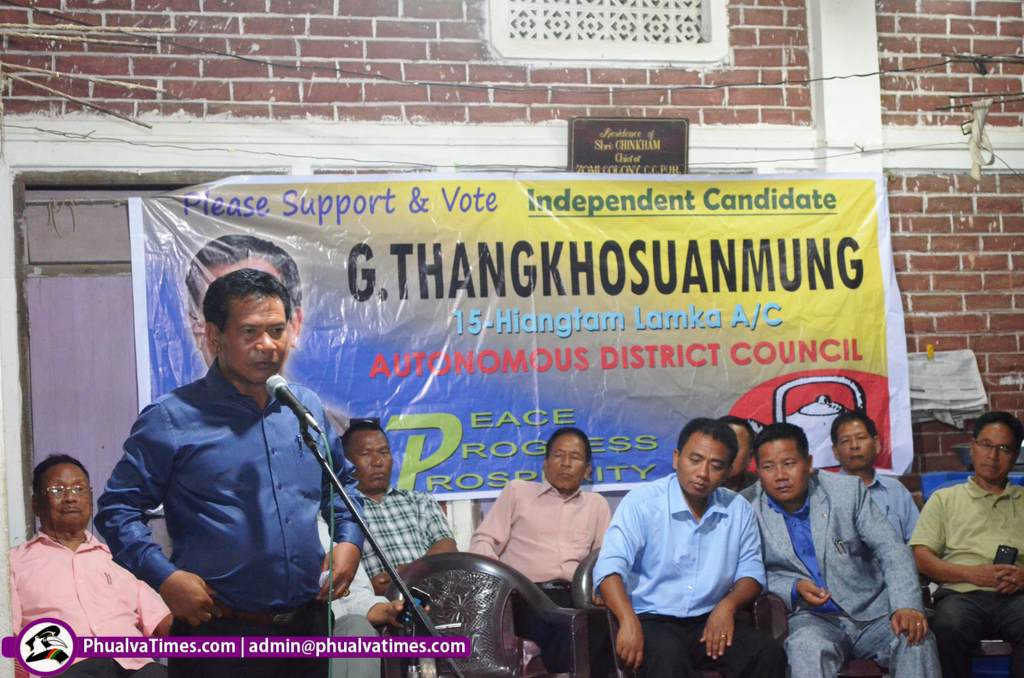 G Thangkhosuanmung in Zomi Colony ah campaign nei