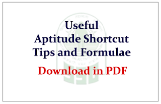 Aptitude Shortcuts Important Facts and Formulae in PDF