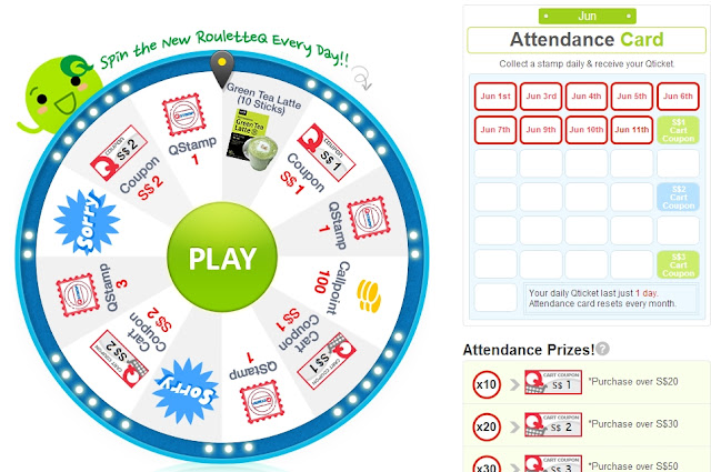 Qoo10 daily roulette