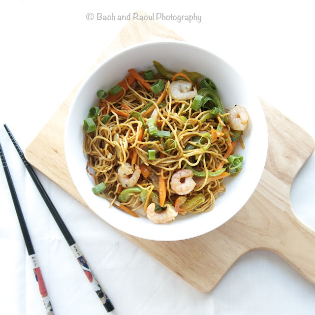 Indian Chinese Shrimp Chow Mein