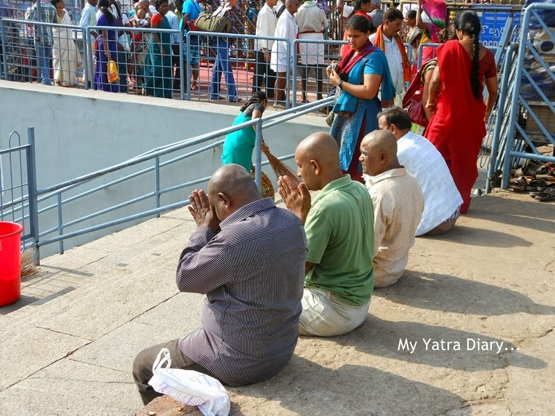 Devotees at Tirupati Balaji temple, Tamil Nadu