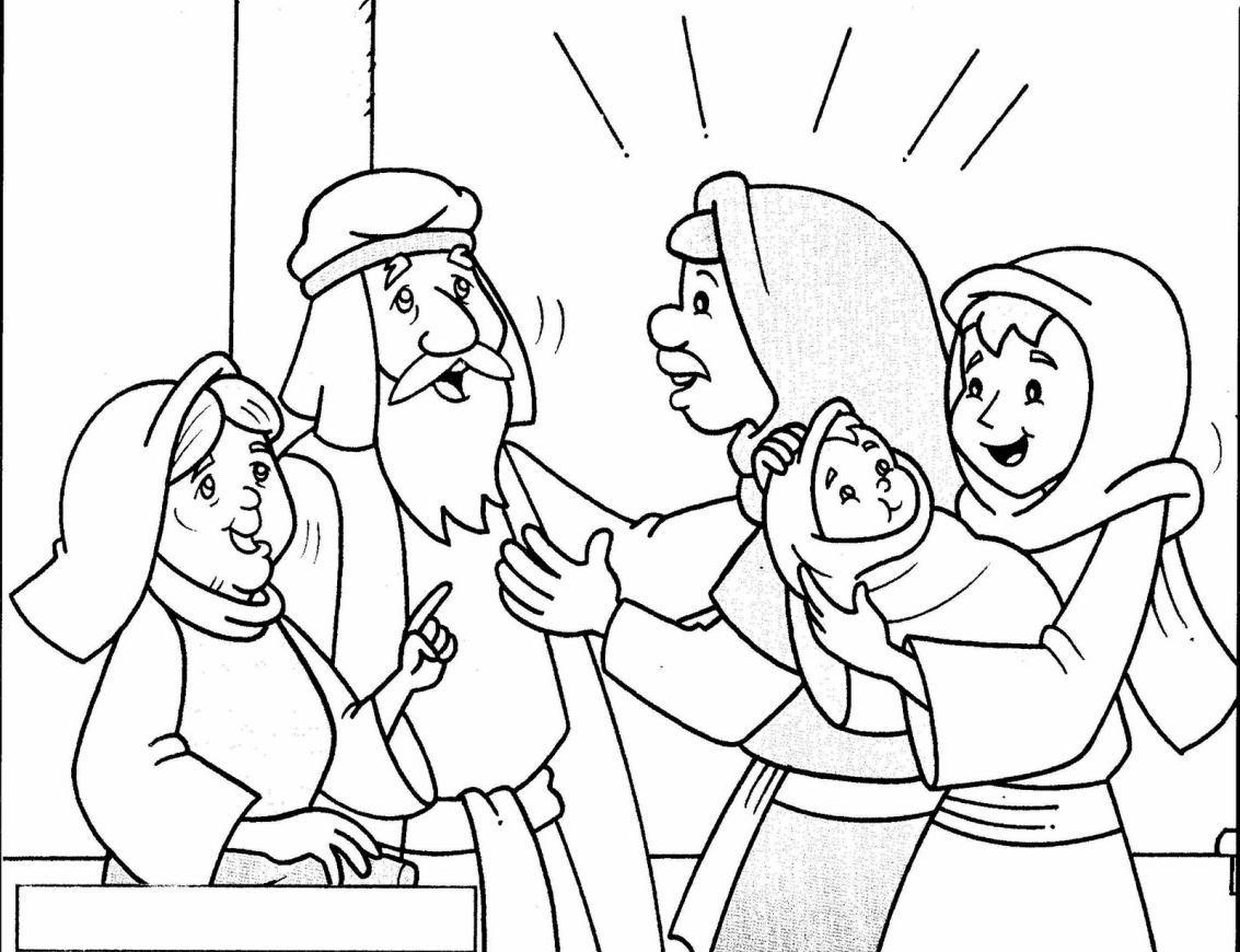 Not cias ponto com jesus apresentado a circuncis o for Simeon and anna coloring page