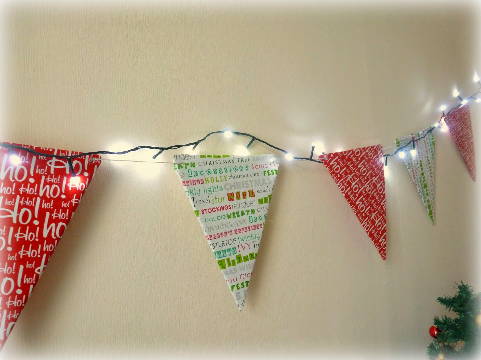 DIY easy christmas bunting