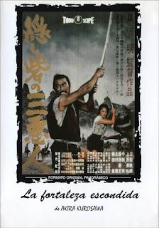 Toshiro Mifune Rokurota Makabe Misa Uehara princesa Yuki Akizuki Fortaleza Escondida portada película