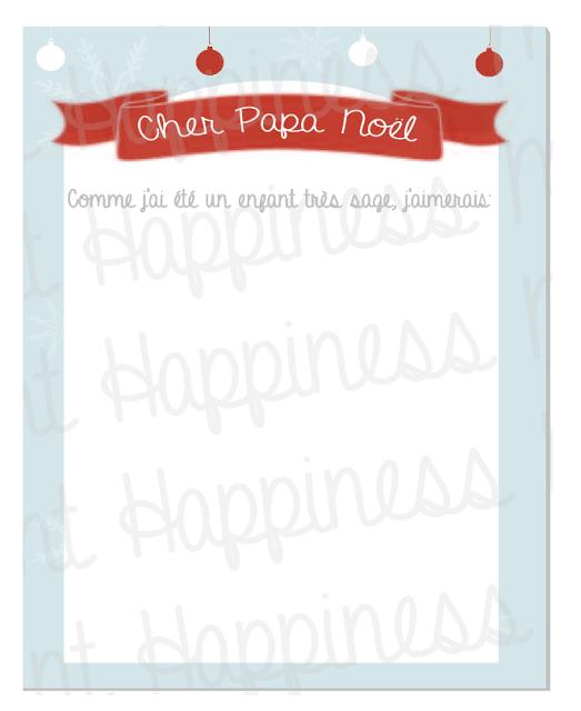 Happiness moment la liste au p re no l a imprimer gratuitement - Liste pere noel imprimer ...