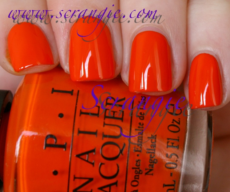Scrangie OPI Holland Collection For Spring Summer 2012 Swatches And Review