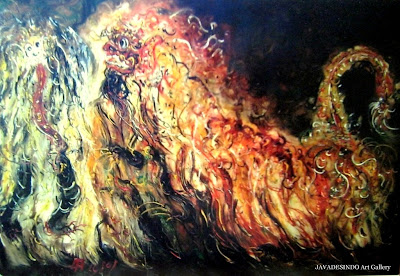 Affandi,+Barong,+250cm+X+170cm,+Th+1980-